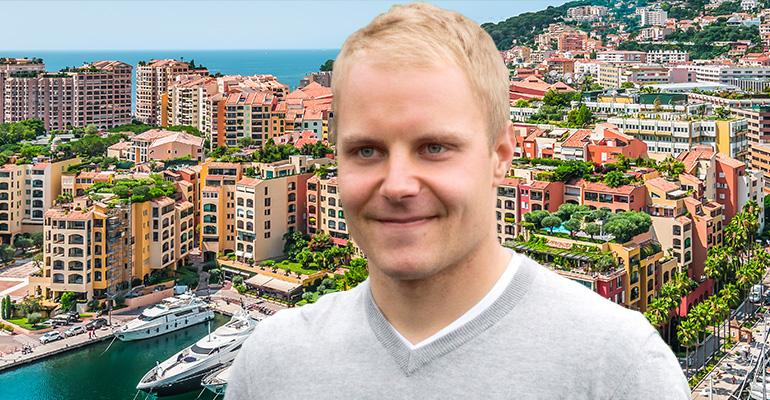 Valtteri Bottas asuu Monacossa.
