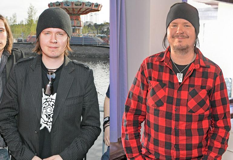 Aki Tykki vuonna 2006 ja nyt.