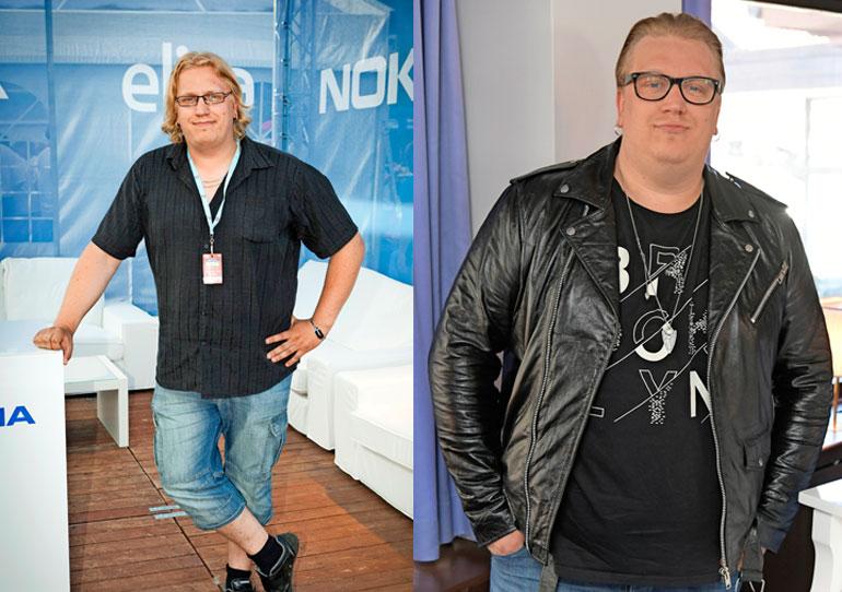 Arttu Wiskari vuonna 2011 ja nyt.