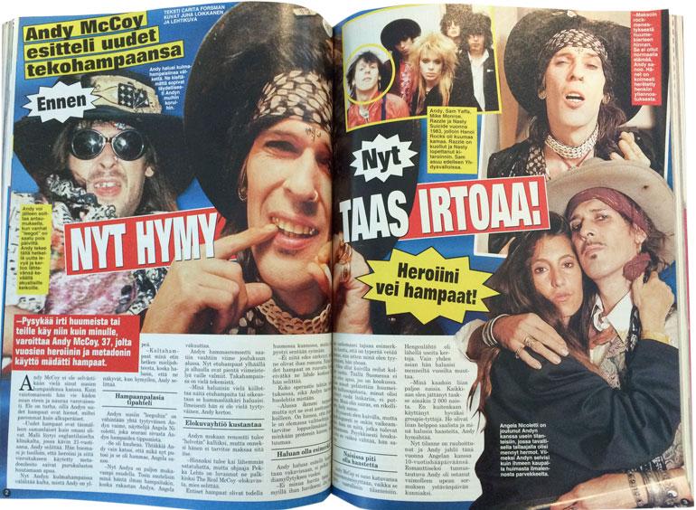 SEISKA 7/2000 Andyn uudet hampaat olivat iso uutinen 18 vuotta sitten.