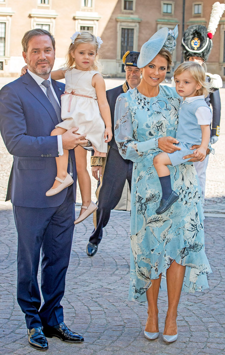 Chris O'Neill, prinsessa Madeleine, prinsessa Leonore ja prinssi Nicolas