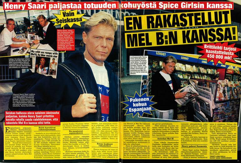 SEISKA 26/1998 Seiskassa kerrottiin ulkomaalaismedian ennennäkemättömästä ajojahdista Henry Saarta kohtaan.