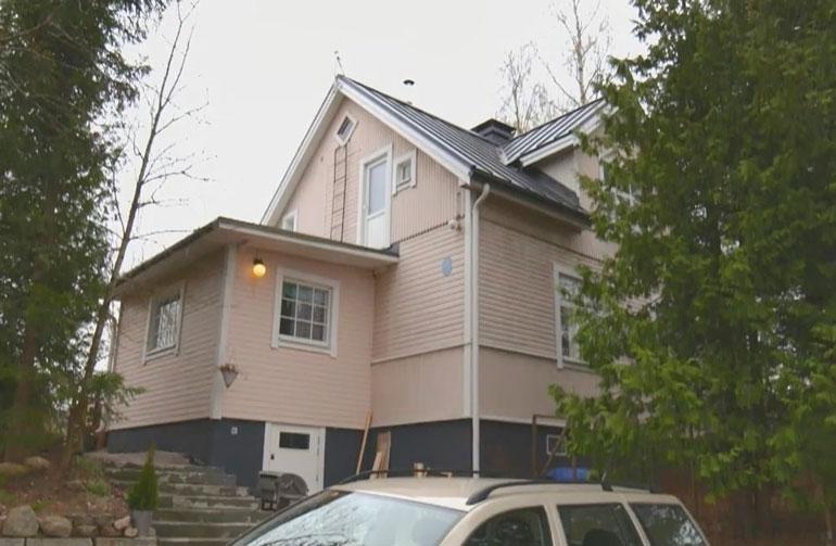 Hinttalan perheen talo on rakennettu 1930-luvulla.