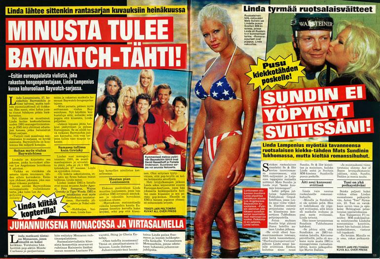 SEISKA 25/1998 Uhkea Linda oli ihailtavassa kunnossa 20 vuotta sitten.
