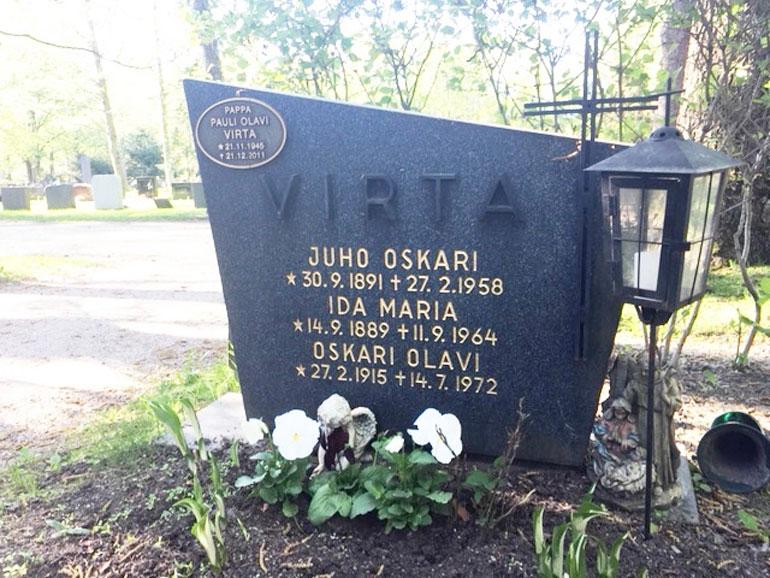 Olavi Virran hauta