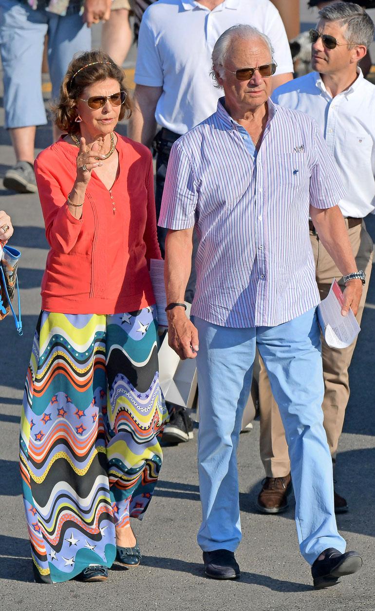 Silvia ja Kaarle Kustaa lomalla.