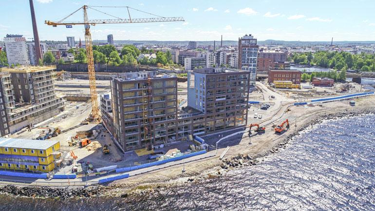 Alue tulee olemaan vielä vuosia yhtä suurta rakennustyömaata.