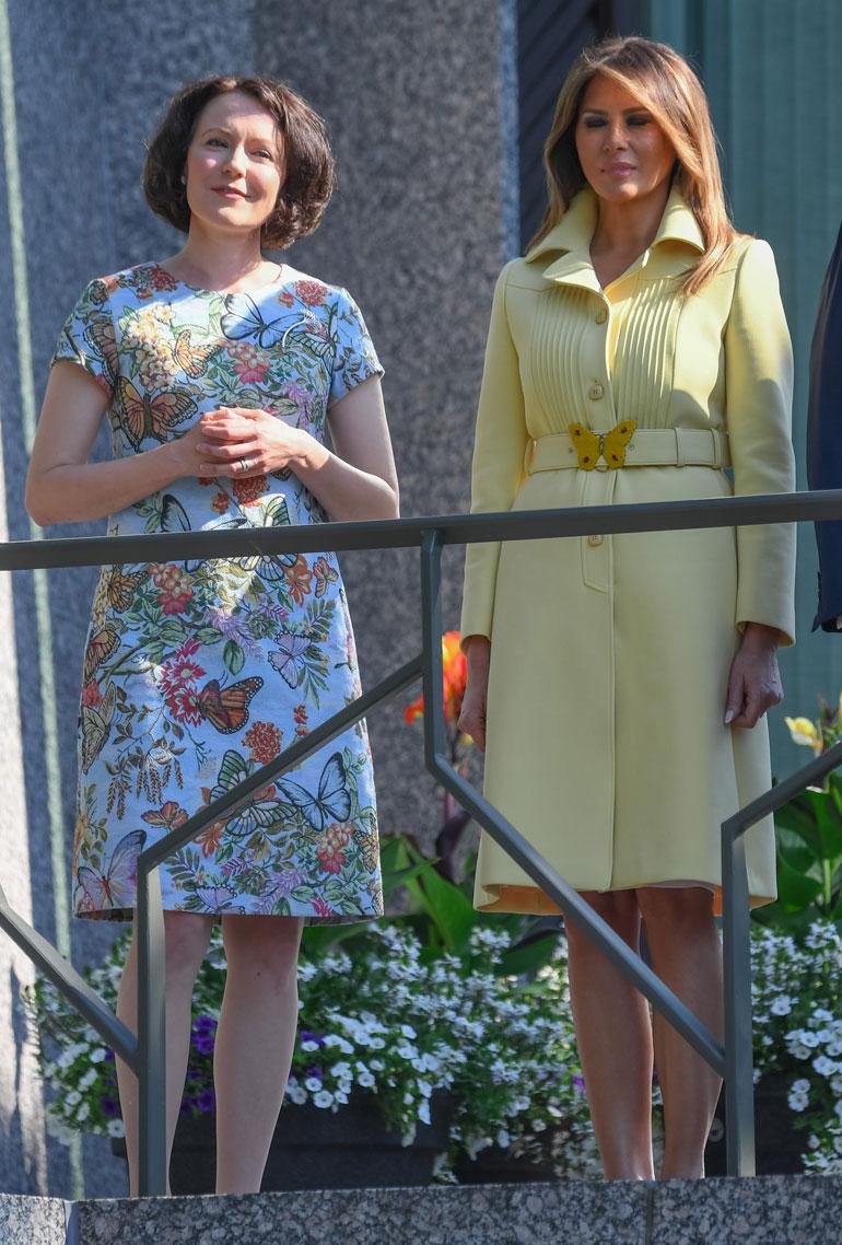 Jenni Haukio ja Melania Trump