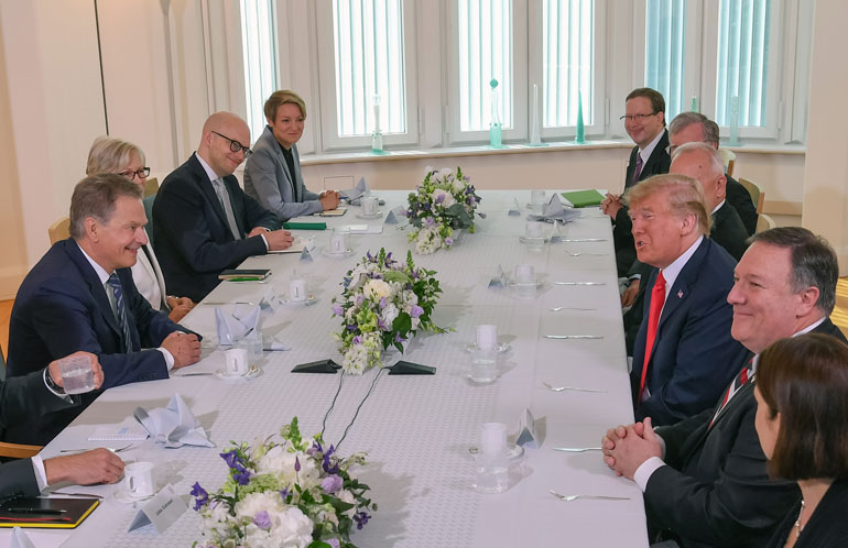 Sauli Niinistö ja Donald Trump