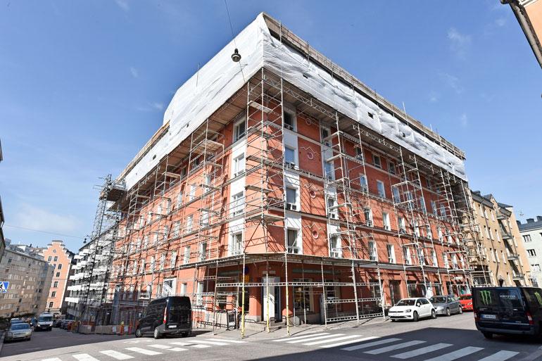Seiskan arvion mukaan punavuorelainen taloyhtiö on kuitannut ullakkohuoneistoista noin miljoonan euron potin.