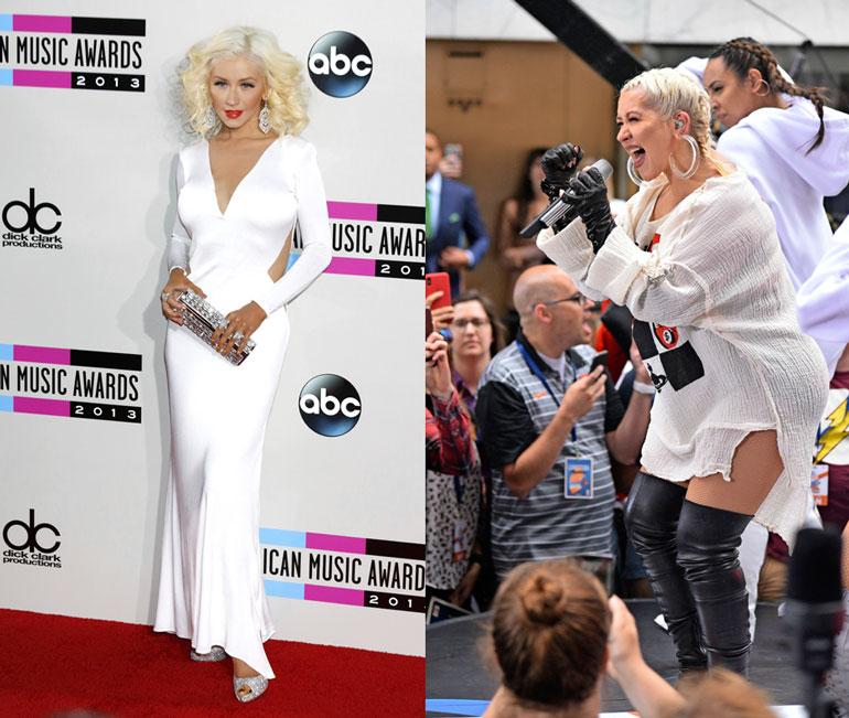 Christina vuonna 2013 ja 2018.