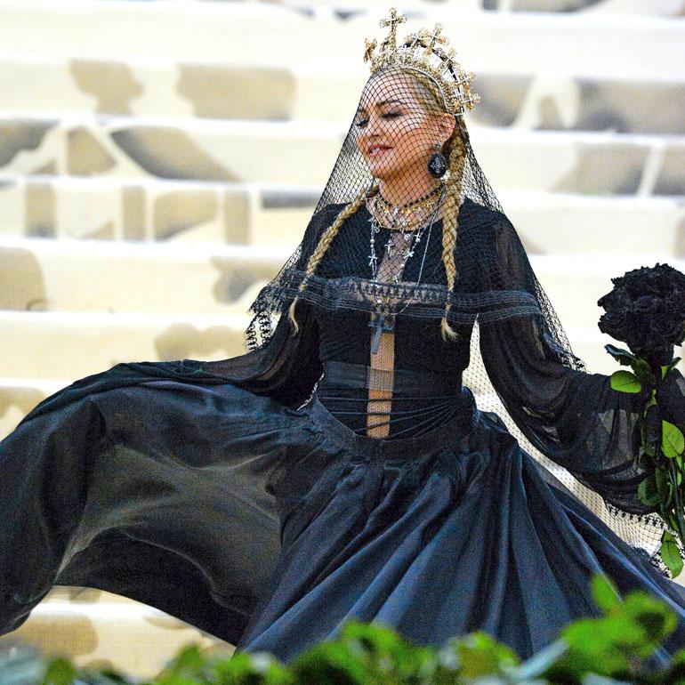 Madonna MET-gaalassa viime toukokuussa.