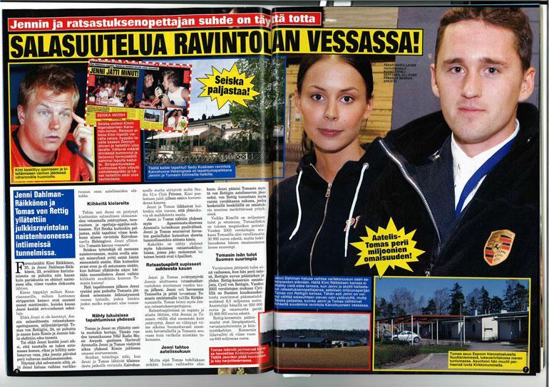 Jenni Dahlman ja Tomas von Rettig