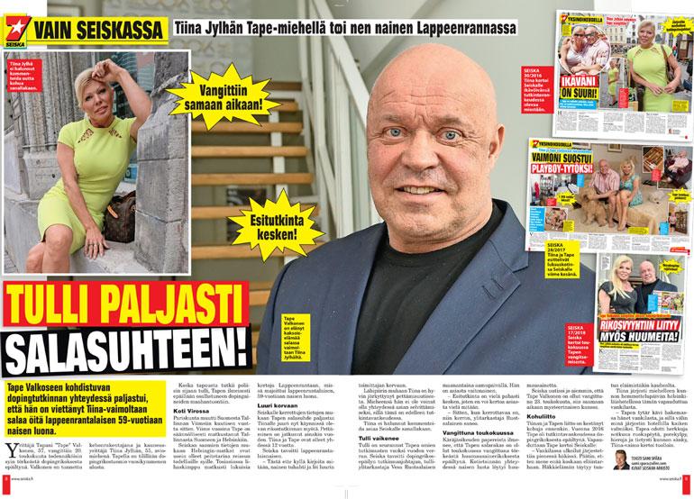 SEISKA 25/2018 Tiina kommentoi nyt ensimmäistä kertaa Tapen oletettua salasuhdetta lappeenrantalaiseen naiseen.