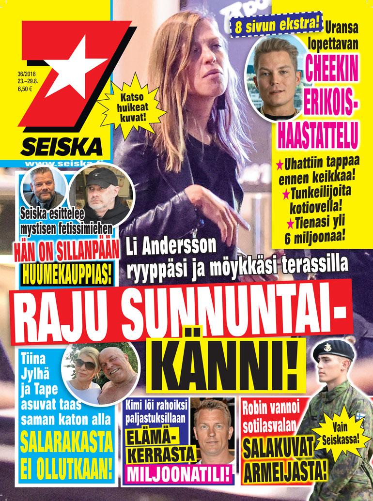 Li Andersson Seiskan kannessa.