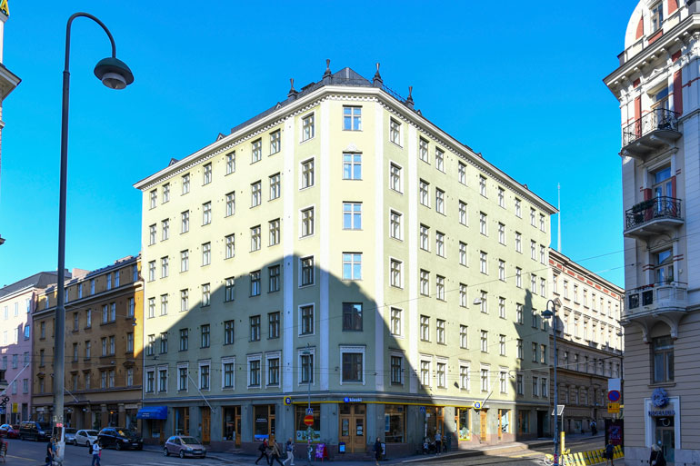 Sannin koti sijaitsee keskellä trendikästä Punavuorta.