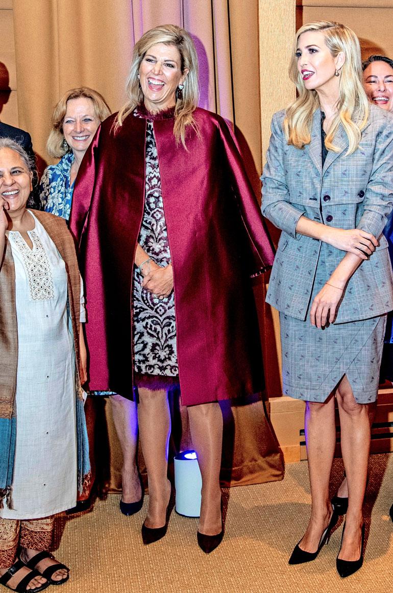 Hollannin kuningatar Maxima ja Ivanka Trump