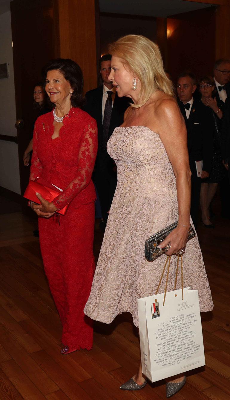 Ruotsin kuningatar Silvia ja Eva O'Neill