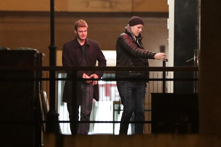 Aleksander Barkov saapui ravintolaan Patrik Laineen kanssa.