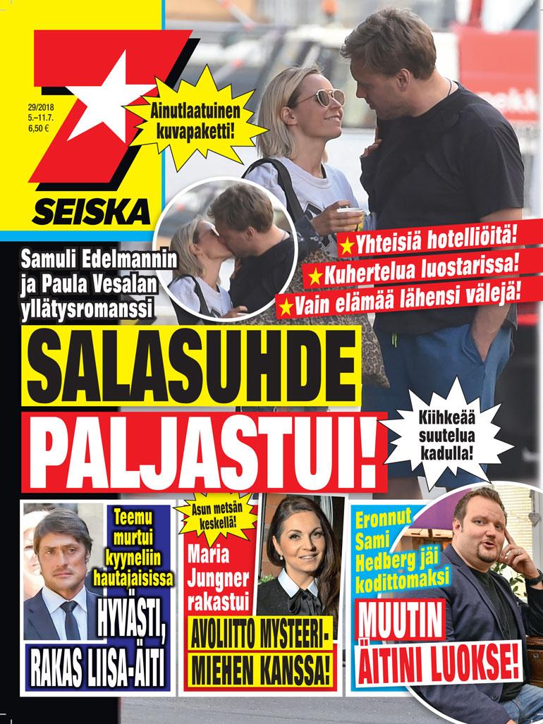 Samuli Edelmann ja Paula Vesala Seiskan kannessa.