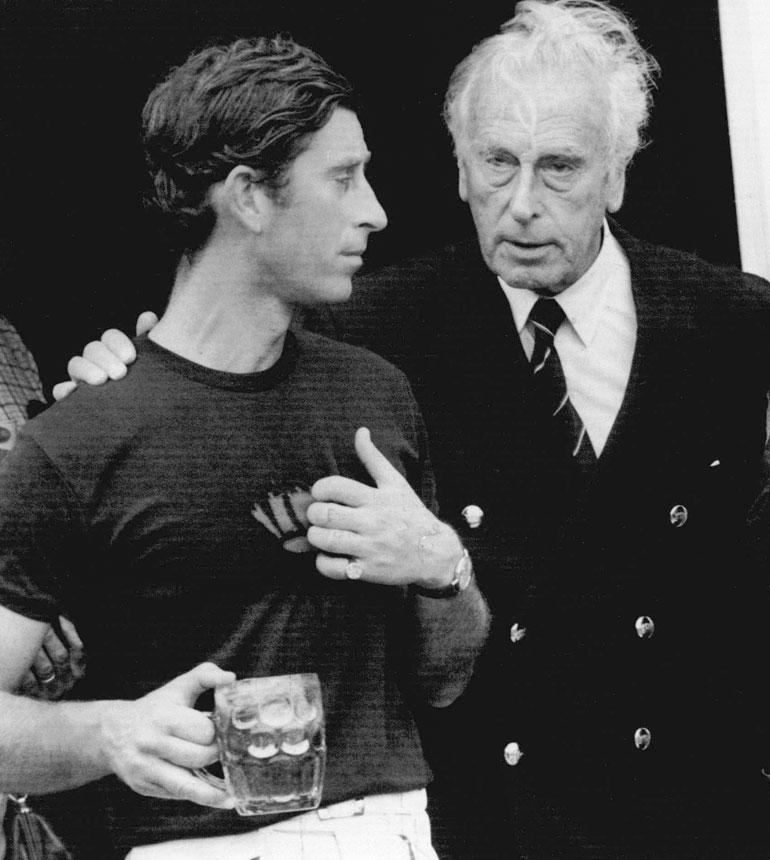 Walesin prinssi ja Louis Mountbatten