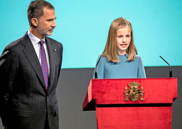 Espanjan kuningas Felipe ja prinsessa Leonor