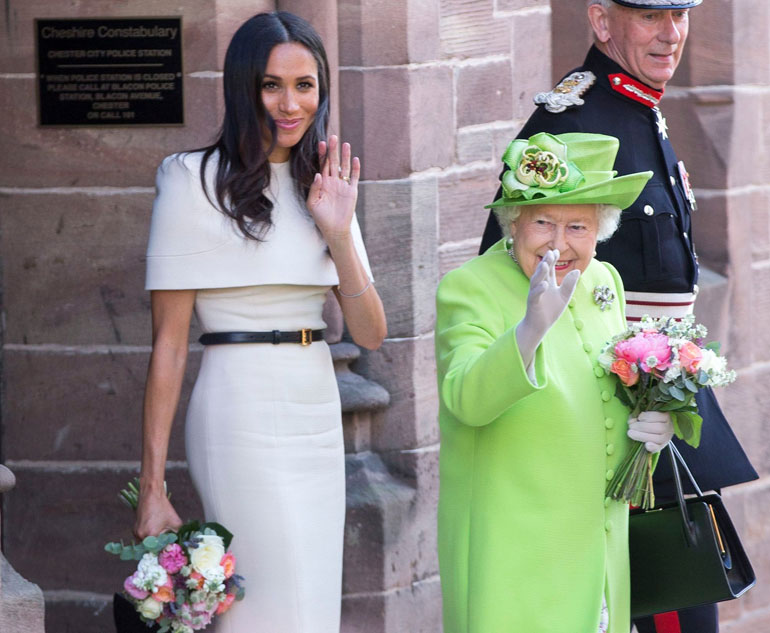 Sussexin herttuatar Meghan ja kuningatar Elisabet
