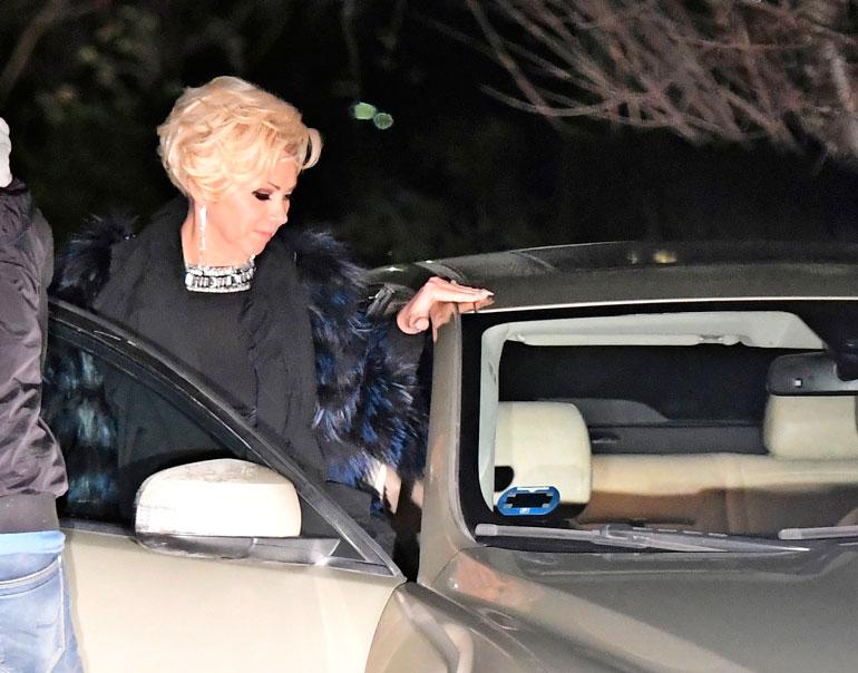 Autoon istuessaan Helena otti katosta tukea.