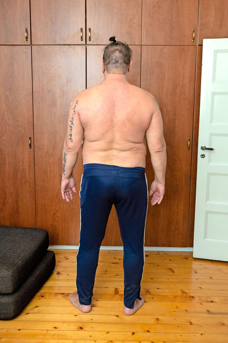 Takaapäin Henryn painonnousua on vaikea uskoa, sillä kiloja on kertynyt ainoastaan vatsan alueelle.
