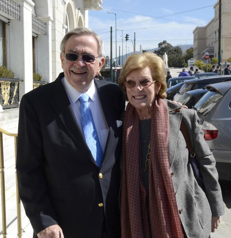 Kreikan ex-kuningaspari Konstantin ja Anne-Marie