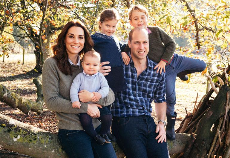 Cambridgen herttuapari William ja Catherine, prinssit George ja Louis, prinsessa Charlotte