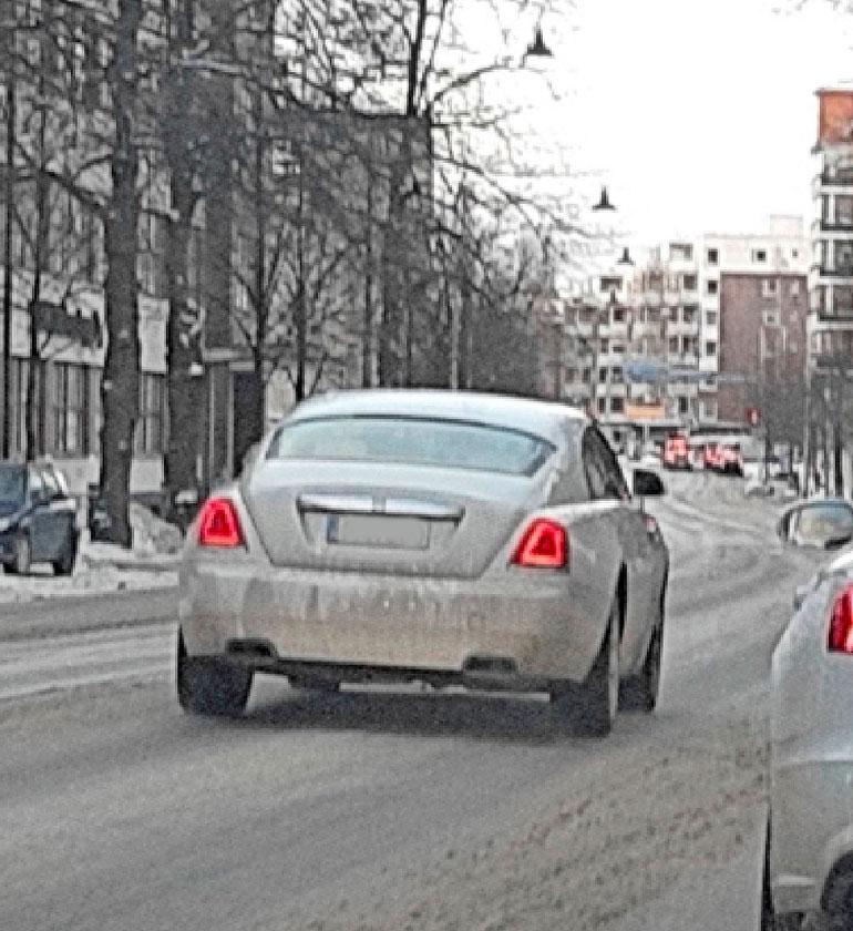 Cheekin Rolls-Royce Lahdessa.