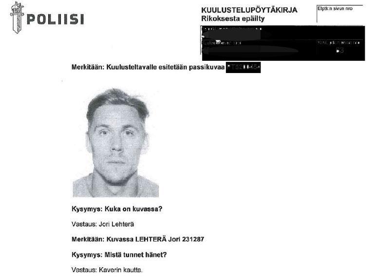 Tätä kuvaa Lehterästä poliisi näytti epäillylle kuulusteluista.