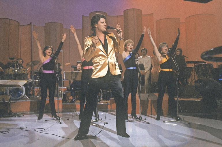 Meiju, Frederik, Helena ja Kaija vuonna 1981 euroviisukarsinnoissa.