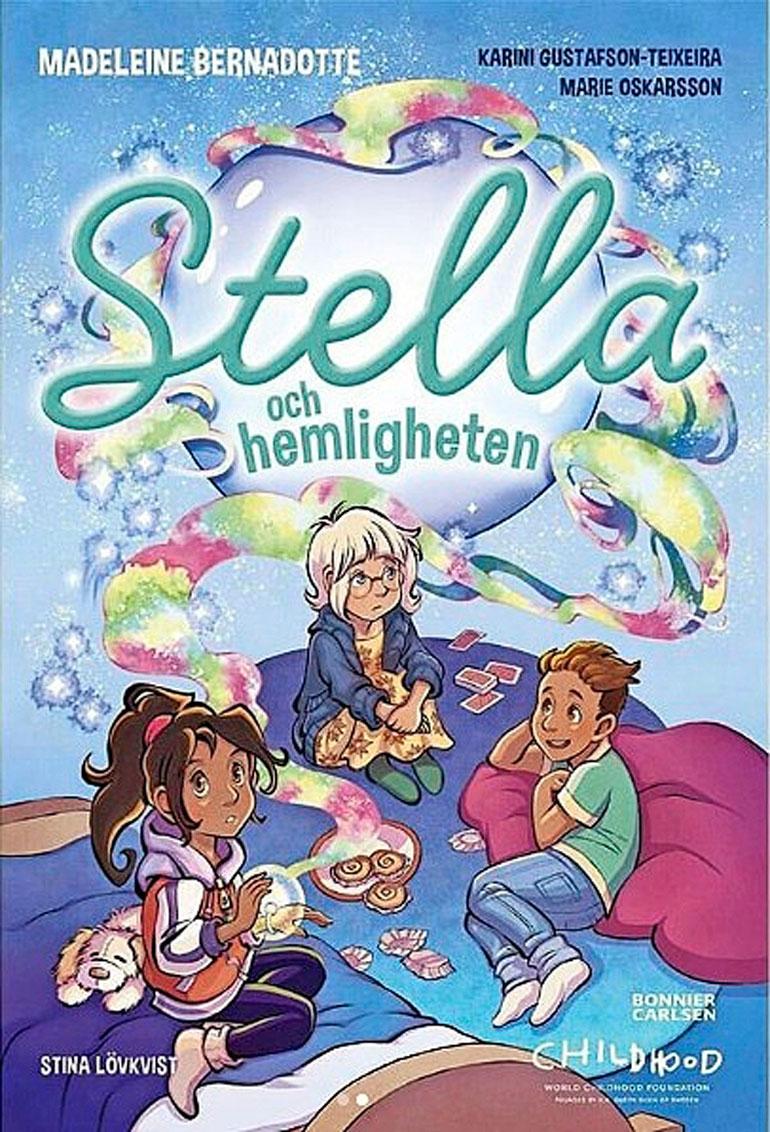 Prinsessa on signeerannut kirjansa tyttönimellään Madeleine Bernadotte. Stella-kirja päässee Ruotsin myydyimpien lastenkirjojen joukkoon nopeasti.