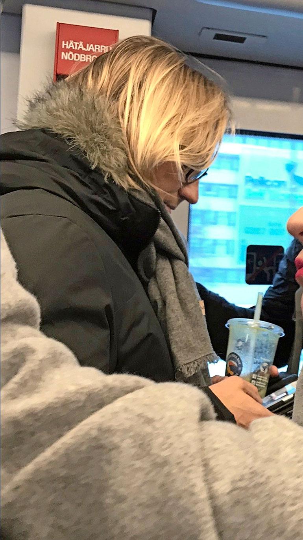 Sami Kuronen metrossa.