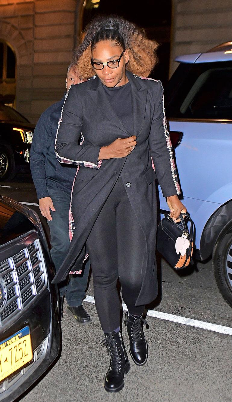 Luksushotellille saapui myös tennistähti Serena Williams, joka illasti herttuattaren kanssa.