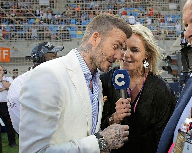 Mervi Kallio haastatteli David Beckhamia.