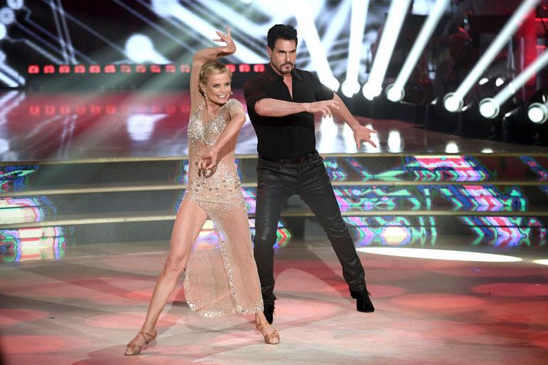Hanna nähtiin Italian Tanssii tähtien kanssa -ohjelmassa Kauniit ja rohkeat -tähti Don Diamontin parina. – Jone kävi kannustamassa meitä paikan päällä.