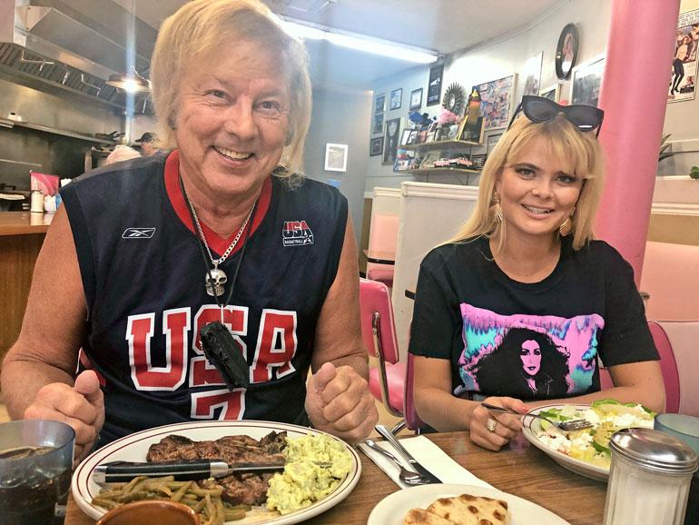 Danny ja Erika Las Vegasissa.