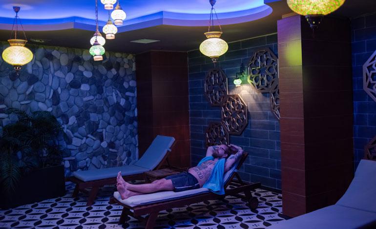 Tällainen on Emerald Parkin hieronta- ja lepohuone.