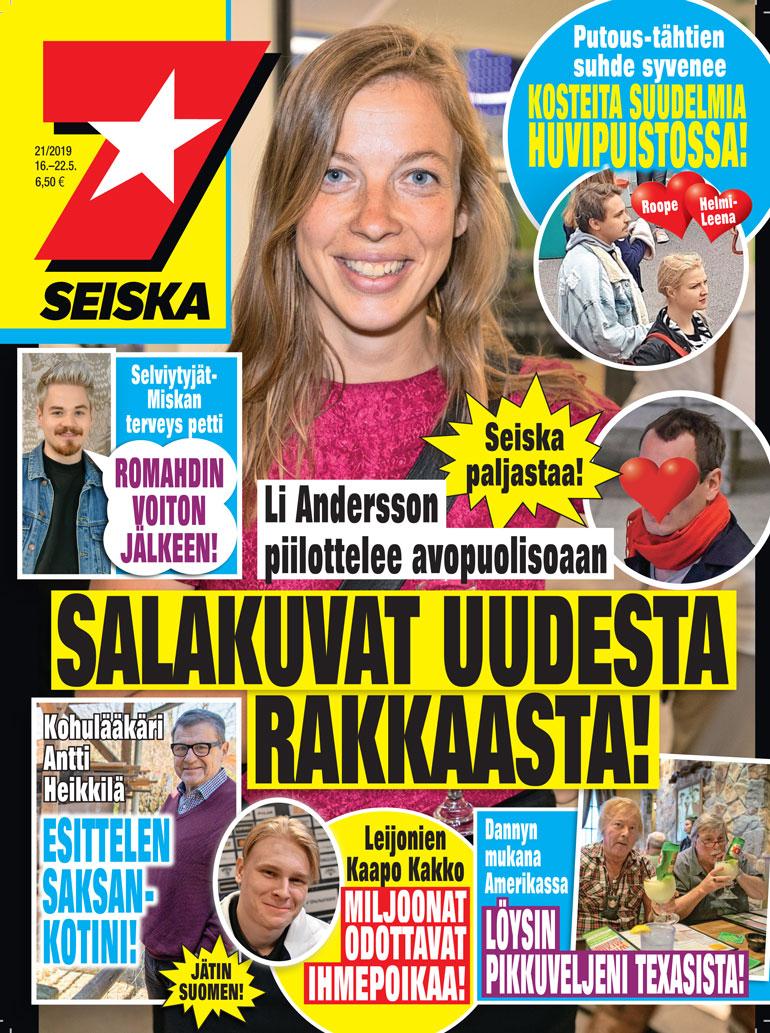 Li Andersson ja uusi rakas Seiskassa.