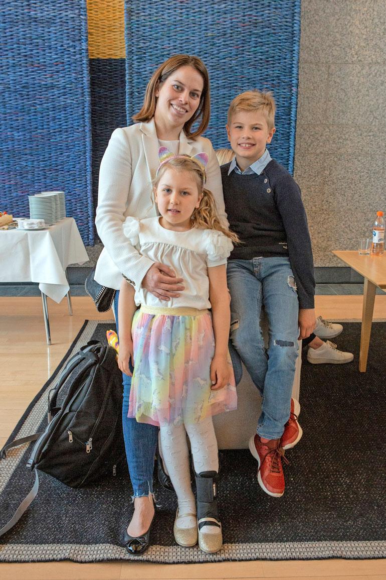 Kristian Kuuselan perhe.