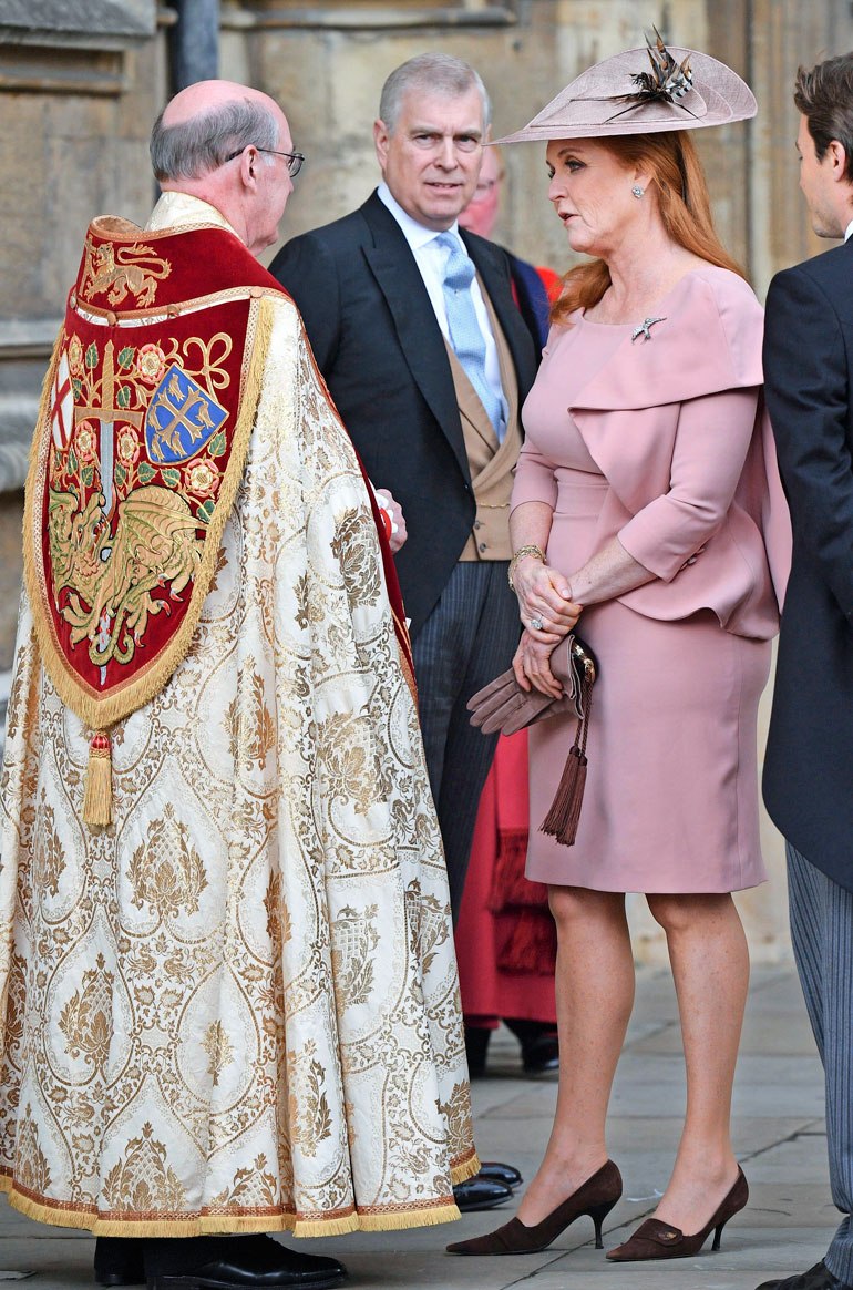 Fergie ja Andrew käyttäytyivät kuin aviopari konsanaan toukokuun puolivälissä juhlituissa Lady Gabriella Windsorin ja Thomas Kingstonin häissä.