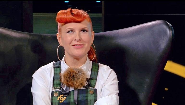 Emelie Björnberg luo uraa muotisuunnittelija ja pyörittää omaa muotiliikettä Helsingissä. Kuva on Nelosen Ruudussa nähtävästä Loop Looks -ohjelmasta.