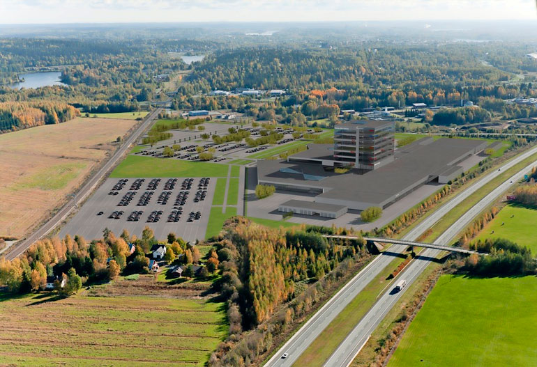 Tältä Sunny Car Centerin alueen olisi pitänyt näyttää. Tämän havainnekuvan paikalla Hämeenlinnassa on todellisuudessa edelleen peltomaisemaa.
