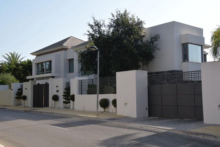 Myös Marbellan-kotiin tehtiin kotietsintä.