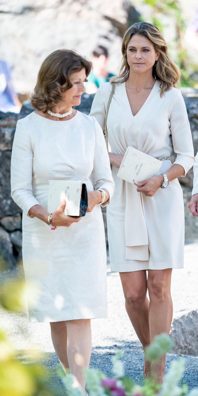 Silvia ja Madeleine säväyttivät valkoisessa.