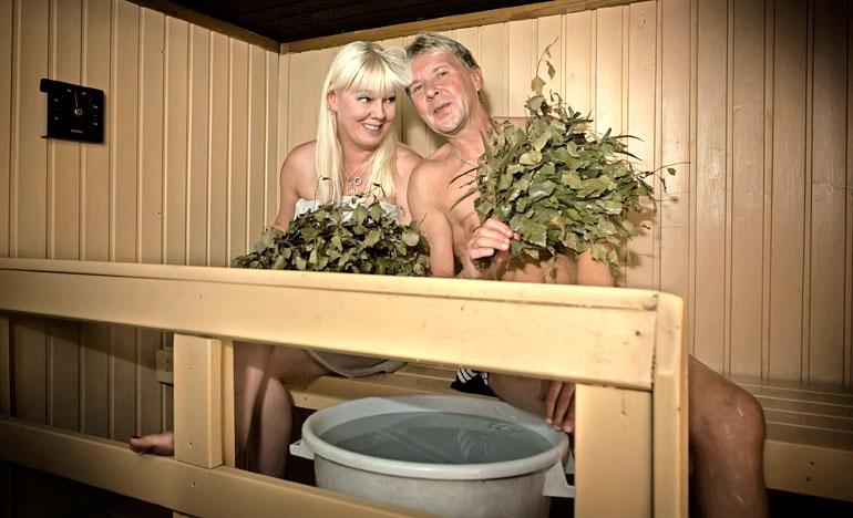 Pia Nykänen ja Matti saunoivat usein yhdessä.