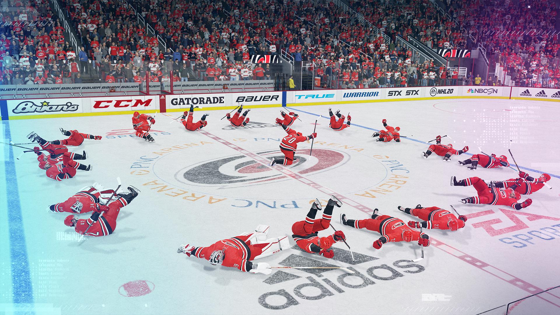 """Carolina Hurricanesin """"Bunch of Jerks"""" -hauskuutukset ovat mukana uudessa NHL:ssä."""